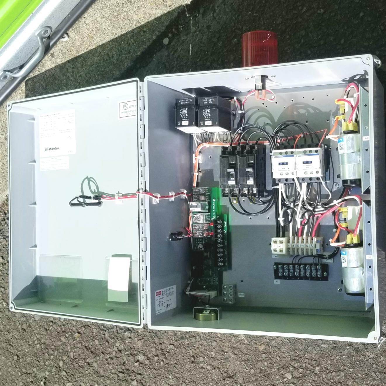 SJE Rhombus Duplex Type 4X Pump Control Panel 1231W114H5E12B17A54M 1ph
