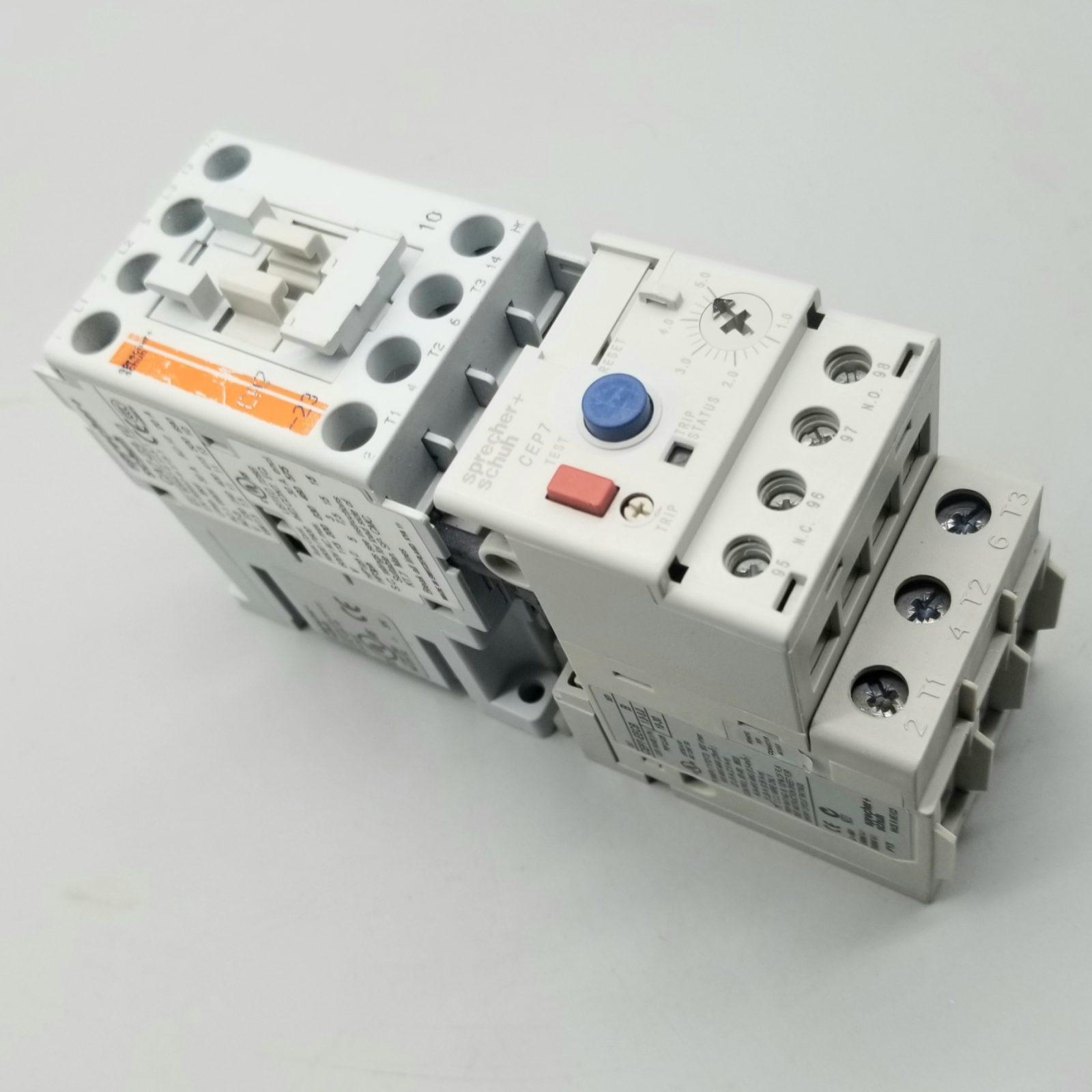Sprecher Schuh CA7-23-10-120 Contactor w/ Overload Relay CEP7-EECB