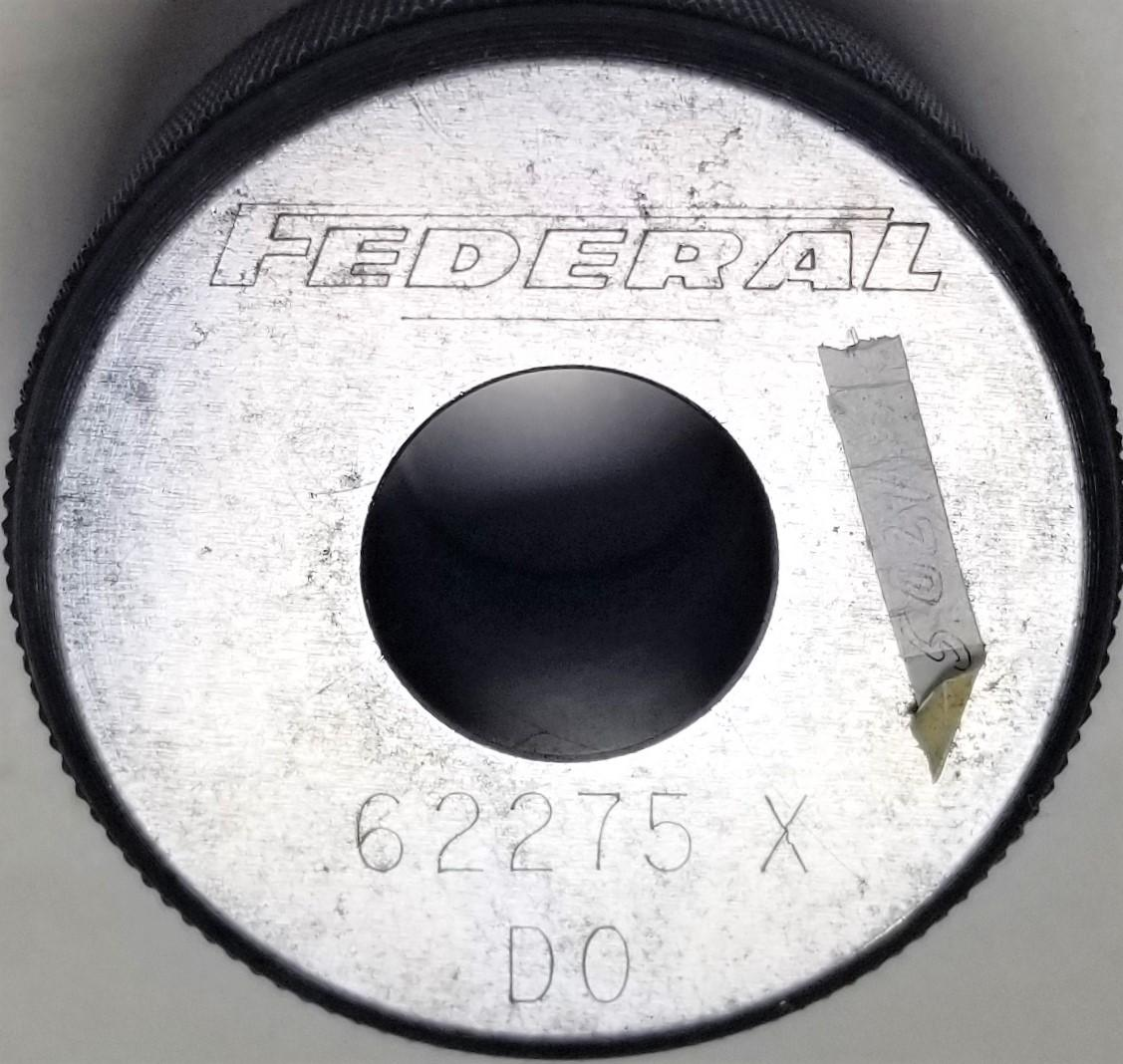 Federal Gauge .62275″ Bore Gage Setting Ring